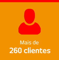 mais de 260 clientes